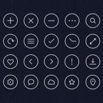 サークル状のデザインフリーアイコンまとめ「35 Free And Fresh Round Icons Designers Should Have」