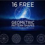 円・三角形・多角形から成る幾何学のパターンが美しすぎる!Webでも紙のデザインでも無料で使えるベクター素材 -Geometric Pattern Shapes