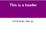 スクロール時にタイトルを控えめにすることができるjQueryプラグイン「squeezingHeader」
