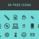 近代のモチーフを集めたベクターアイコンセット「Free Pack 60 Vector Icons」