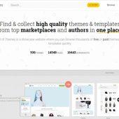 HTML5やWordPressの有料/無料のテンプレートで高品質なものを収集、ギャラリーにしている・「Best of Themes」