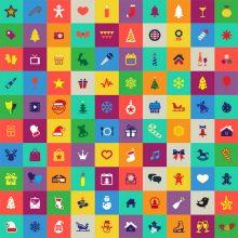 クリスマスを彩るアイコンセット「100 Free Flat Christmas Icons」