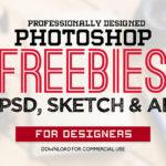 テンプレートからアクションまで デザインに使えるフリーのPSD素材まとめ「30 New Useful Free Photoshop PSD Files for Graphic Designers」