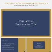 パワーポイントのデザインがワンランクアップする エレガントな雰囲気が魅力のpptテンプレート「Elegant Presentation Template Pack」