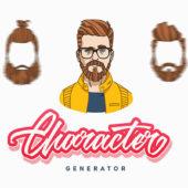 男性の顔をカスタムできるイラストジェネレーター「Gentleman Character Generator」