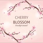 商用利用無料!桜の花、蕾、枝が揃ったかわいい背景・パターンのベクター素材