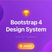 Bootstrap 4で実装されているデザインシステム要素すべてをデザイン素材にした無料素材 -Bootstrap Design System