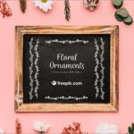 Webでも紙でも商用無料!かわいいデザインにぴったり、フローラルの飾り罫のデザイン素材 -Floral Ornaments
