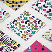 POPなカラーが目を惹く8bitの幾何学的パターンセット「8-bit Memphis Patterns Pack」