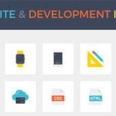 ウェブサイト開発に関するアイコンセット「Smashing Freebies: Website & Development Icon Set」