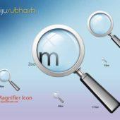 オブジェクト拡大の表現に活用できる ルーペアイコンまとめ「10 Free Magnifying Glass Search Icons Sets」