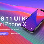 iOS11とiPhoneXモックアップに最適なテンプレート「iOS 11 UI Kit for iPhone X」