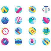 アウトドアイメージのフリーアイコンセット「Free Adventure Icon Collection」