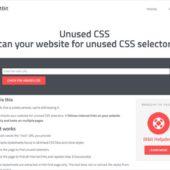 Webサイトで未使用のCSSセレクタを教えてくれるツール・「Unused CSS」