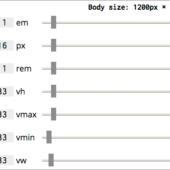 px, %, em, rem, vw, vhなど、CSSの異なる単位が互いにどのように変換されているかが分かる便利ツール