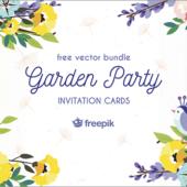 春向けのデザインにぴったり!かわいい春の草花や小鳥やアイテムが揃ったベクター素材 -Spring Garden Party