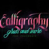 用途に合わせてアレンジ可能なカリグラフィブラシとテクスチャのセット「Procreate Calligraphy Brushes」