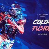 カラフルでスタイリッシュな処理が可能なphotoshopアクション「Color Fusion Photoshop Actions」