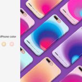 カスタム可能な美しいiPhoneのケース入りモックアップ素材「iPhone 8+ Plastic Case Mockup」