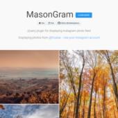 ページ内にインスタグラムの写真をかっこよく表示できるjQueryプラグイン「masongram」