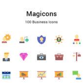 ビジネスを表現できるアイコンセット「Magicons」