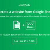 絞り込み機能付きのサイトをGoogleスプレッドシートで作れる「Sheet 2 Site」