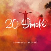 写真に手軽に霧や煙を加えられる高品質なPhotoshopブラシセット「20 Smoke Photoshop Brushes」