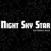 夜空をイメージさせるパターンセット「Night Sky Star Patterns」