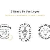 シンプルでモダンなフリーロゴデザインキット「The Logo Kit – Free Sample」