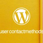 WordPress管理画面のユーザーページに項目を追加する