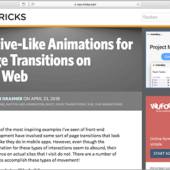Vue.jsとNuxt.jsを使用して、Webページのページ遷移に気持ちいいアニメーションを与えるチュートリアル