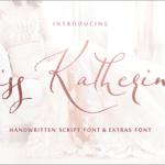 リガチャが楽しめる有料フォントが期間限定で無料!繊細で洗練された美しいフォント -Miss Katherine