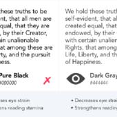 テキストや背景色に「純粋な黒」を使うべきではない理由【ユーザーの可読性を落とすかも…】