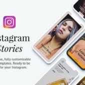 Instagramのストーリー投稿に活用出来るテンプレート「12 Instagram Story Templates」