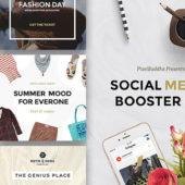 投稿写真をより魅力的に見せるSNS用のテンプレート「Social Media Booster Kit」