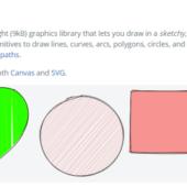 SVG等を手書き風に描画することができる「Rough.js」