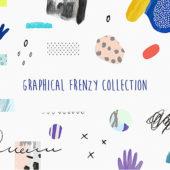 デザインのアクセントに役立つ可愛らしい手書き風イラスト素材「Graphical Frenzy Collection」