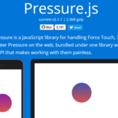 Web上で3D Touchに対応させる「Pressure.js」