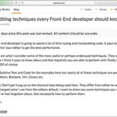 知ってると便利!HTML, CSS, JavaScriptなど、コーディングの作業を快適にするエディタの操作テクニックのまとめ
