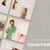 Instagramをおしゃれに演出できるフリーテンプレート「Vana free fashion social media templates for Instagram」