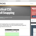 CSSでスクロールのスナップが可能に!scroll-snapプロパティの基礎知識と便利な使い方