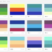 トレンドの配色をカラーコード付きで参照できる「Trendy Palettes」