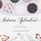 今だけ無料!秋にぴったりな草花がかわいくデザインされたパターン素材 -Autumn Splendour Patterns