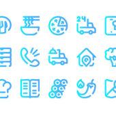 フードデリバリーサービスに利用できる「50 Free SVG and PNG food deliverey icons」