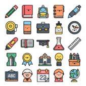 「学校」をテーマにした50種類の無料でつかえるアイコンセット「50 Free back to school icons」