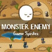 いろいろなゲームキャラクターを楽しめる「Free Monster Enemy Game Sprites」