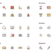 ベクターデータで描かれた150のアイコンセット「A free set of 150 vector icons」