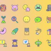 個性的なラインナップを楽しめるフリーアイコンセット「Emojious Icons」
