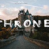 【商用可】アナログ感のあるドローイングフリーフォント「THRONE」