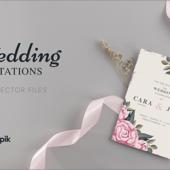 コリス限定で全員にプレゼント!かわいい草花を使ったビンテージの招待状・カードのベクター素材
